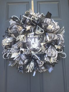 A personal favorite from my Etsy shop https://www.etsy.com/listing/267430124/oakland-raiders-nfl-football-decomesh