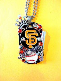 San Francisco Giants Dog Tag Pendant Number 975 by BradosBling, $39.99