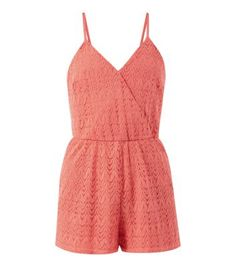 Pair this feminine crochet playsuit with tan sandals in the day, and colour pop in the evening, for statement style.