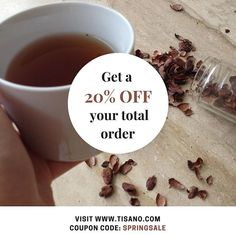 This is for you our beloved followers!  If you haven't tried our cacao tea yet then what are you waiting for?! Go get any of our four blends and SAVE 20% OFF. Get to shopping using our coupon code  SPRINGSALE