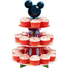 Mickey Mouse Cupcake Stand - Party City- Cute Idea, just wish it was baby mickey