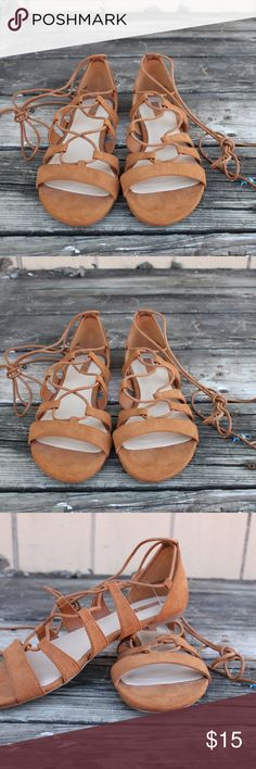 Gladiator flats Forever 21 Gladiator flats. In PERFECT condition. worn ONCE. Perfect for this spring/summer with a cute dress. :) Reason for sale: Not my style anymore. Forever 21 Shoes Flats & Loafers