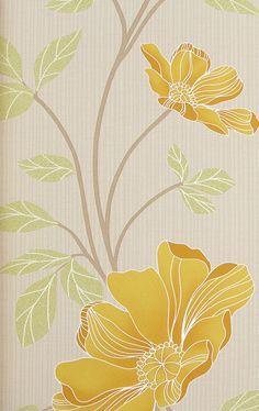 Decoupage Patchwork Floral Papel Pintado Flores Azul Amarillo Rosa Plata Metálico