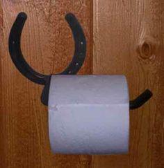 Horseshoe Toilet Paper Holder