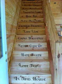 Wonderful thoughts painted on the stairs
