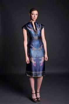Jennifer Rothwell Leather and Silk Kells Space Mythology Dress Irish Fashion, Dresses For Work, Formal Dresses, Mythology, Designers, Silk, Space, Leather, Fashion Design