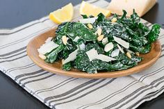 Kale Salad- Lemon juice and olive oil have long been a great salad dressing combination, but the dollop of yogurt makes a huge difference. Simple plain yogurt adds creamines