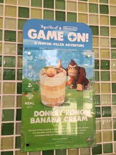 Fro-Yo Girl Speaks: Yogurtland & Nintendo Game On New Flavor: Donkey Kong Banana Cream