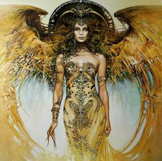 """""""She had an angelic quality about her. She didn't act like she was better than everyone, she just had a presence, an energy, a sort of light coming from within her that was overwhelming.""""  ― Kevyn Aucoin--- art by Karol Bak"""