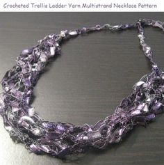 ladder yarns necklaces free pattern yarn necklace submitted by