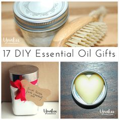 A few of these make great last-minute gift additions!    17 DIY Essential Oil Gifts | Yankee Homestead