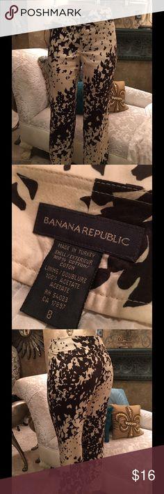 "Banana Republic 100%Cotton Print Pants Great for any event. We also offer bundle deals. Measurement: waist 16"" length 36"" inseam 27"" Banana Republic Pants"