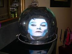 This DIY Madame Leota Crystal Ball is definitely a worth-to-try project that you have to try this Halloween! Haunted Mansion Decor, Haunted Mansion Halloween, Victorian Halloween, Purple Halloween, Halloween Diy, Halloween 2019, Halloween Stuff, Halloween Garage, Disneyland Halloween