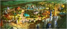 Artist's rendition of the re-imagined Fantasyland tradition in Magic Kingdom at WDW.