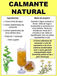 Calmante Natural Corner of Ideas: Natural Soothing Smoothies Detox, Healthy Tips, Healthy Recipes, Health And Wellness, Health Fitness, Menu Dieta, Natural Medicine, Natural Health, Natural Remedies