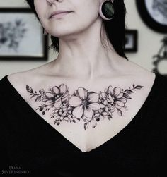 Anemones Hydrangea Chest | Best tattoo ideas & designs