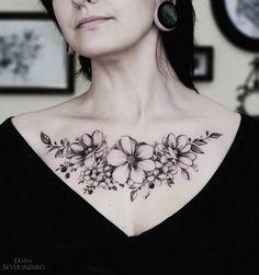 Anemones Hydrangea Chest | Best tattoo ideas & designs