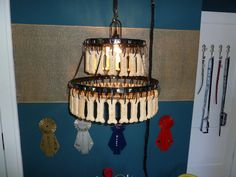 Lighting in the dogs room...dog bones, of course. Fall 2012 #doglovers