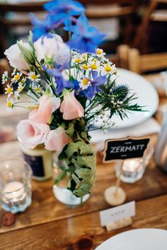 Wedding Decor - Phase Eight Wedding Dress | Relaxed London Pub Wedding | Images by Marianne Chua Photography