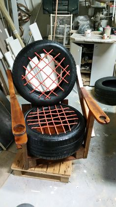 Fotel z opon