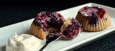 Nydelig og saftige oppned-muffins! (Bakekona)