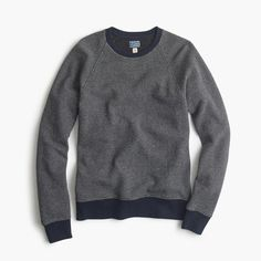 J.Crew Gift Guide: men's bird's-eye sweatshirt.