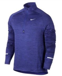 Men's Nike Sphere Element Half Zip Long Sleeve Running Top Size LARGE 683906 508 #Nike #ShirtsTops