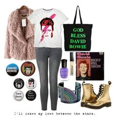 """""""David Bowie"""" by kitten89 ❤ liked on Polyvore featuring House Of Voltaire, Uniqlo, Armour, CO, Deborah Lippmann, Dr. Martens, women's clothing, women's fashion, women and female"""