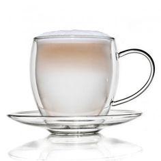 Thermoglas mit Untersetzer 400 ml