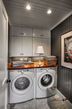 Small laundry room ideas that are both stylish and functional. From extra storage space and hidden appliances to pops of color and reclaimed wood, these laundry rooms ideas will inspire your next home renovation project. #HomeAppliancesPop #HomeAppliancesColor