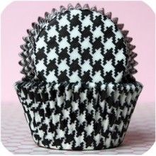 Houndstooth Baking Cups