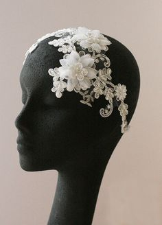 Leaf And Flower Headpiece, Grecian Headpiece, Rhinestones Headband, Bridal Headpiece, - BLOSSOM. $139.00, via Etsy.