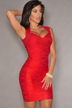 New Fashion Red Foil Print Bandage Dress Celebrity Style and other designs of foil bandage dresses are the hottest trend for now since people spotted that more and more celebrities wearing these kinds