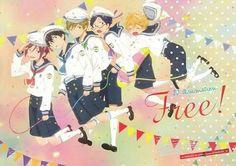 Rin, Haruka, Makoto, Rei and Nagisa - child ^^