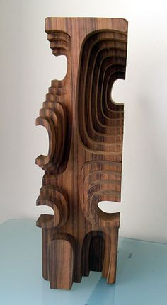 wooden sculpture by Brian Willsher (c.1980)