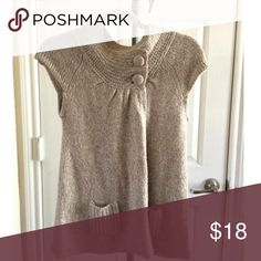 Love Always Sweater Vest Sweater Vest with Button Fasteners at Neck and Two Small Pockets Love Always Tops