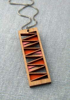 Layered Wood Pendant