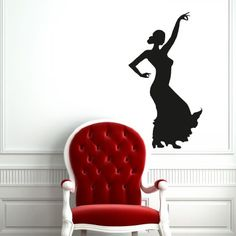 Girl in Dress Woman Dancing Silhouette Flamenco Wall Vinyl Decals Art Sticker Home Modern Stylish Interior Decor for Any Room Smooth and Flat Surfaces Housewares Murals Design Window Graphic Dance Studio Bedroom Living Room (5098) stickergraphics http://www.amazon.com/dp/B00IT5KBLG/ref=cm_sw_r_pi_dp_5.NVtb0PG5J7YMYB