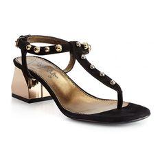 Lanvin black suede leather sandals (FWSHFI4FKIPAP15) - Bledoncy