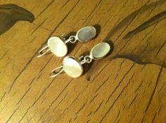 925 Silver Mother of Pearl Dangle Earrings by SandsofHaifa on Etsy