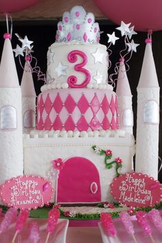 Omg!!! Love love this! Wish iI could have done this for brooklyns bday!! Princess Castle Cake