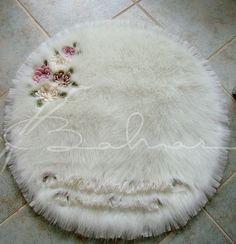 Peluş banyo halısı  Baharca tasarım  handmade