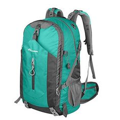 3a6de5a43e OutdoorMaster Hiking Backpack Weekend Pack w Waterproof Rain Cover Laptop  Compartment for Camping Travel Hiking LightGreenGrey   Check this awesome  product ...