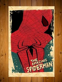 Spiderman Retro Movie Poster for Huddys new room
