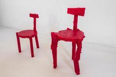 Sedie stampate in 3D modellate sul rumore circostante
