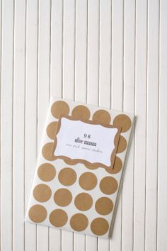 Kraft paper sticker dots