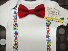 1st birthday boy outfits | ... birthday outfit boy birthday onesie baby boy bow tie birthday onesie