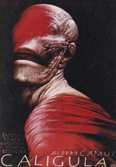 Caligula - autor plakatu Wiesław Wałkuski