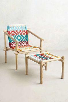 Anthropologie - Diamond-Weave Chair