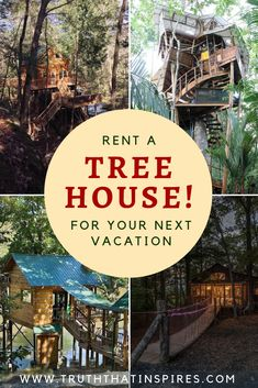 Rent a Tree House! Looking for a romantic getaway or something completely different and unique for your next vacation? How about renting a tree house? Visit the link to see 12 tree houses currently available to rent in the US and Costa Rica. Vacations In The Us, Unique Vacations, Romantic Vacations, Romantic Getaways, Romantic Travel, Dream Vacations, Unique Hotels, Romantic Destinations, Vacation Places